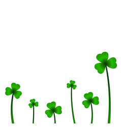 Background with clover in vector