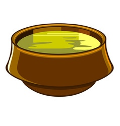 bowl of soup vector image