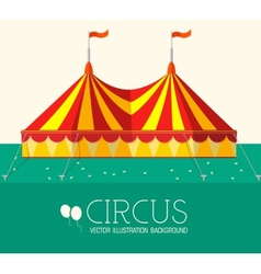 Circus flat background concept design vector