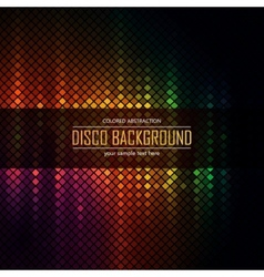 Colorful disco lighten background vector image
