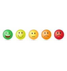 colorful smiling cartoon face people emotion icon vector image vector image