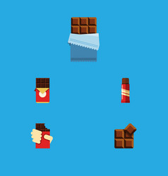 Flat icon sweet set of shaped box cocoa bitter vector