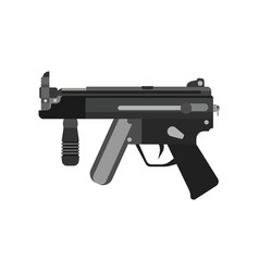 gun submachine weapon rifle military automatic vector image vector image