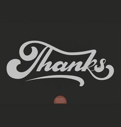 hand drawn lettering thank elegant modern vector image vector image