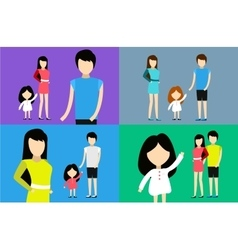 Happy family together portrait home happy vector