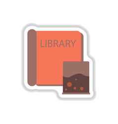 In paper sticker style ancient vector
