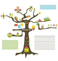 Infographic data on the tree vector image vector image