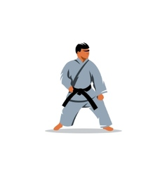 Karate sign vector image