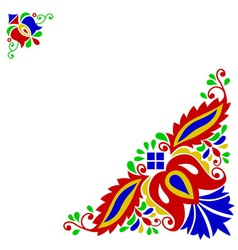 Moravian folk ornament vector