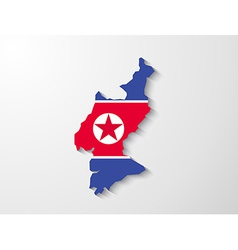 North korea country map with shadow effect vector