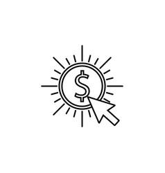 pay per click line icon vector image