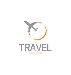 plane design logo vector image