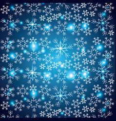 Shining snow blur christmas snowflake decoration vector