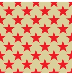 Star red seamless pattern vector image