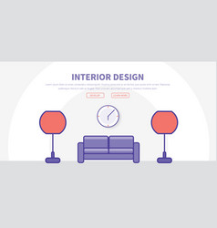 template header with buttons for web site with vector image