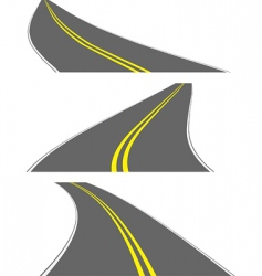 Vector perspective roads vector