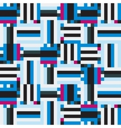 Blue striped geometry vector