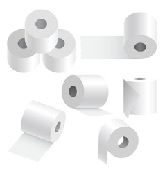 Toilet paper set vector