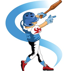 Kid baseballer vector
