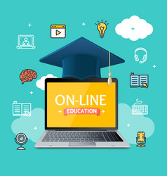 Education online concept vector
