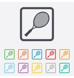 Tennis racket sign icon sport symbol vector