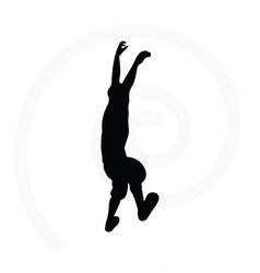 Silhouette of senior climber man vector