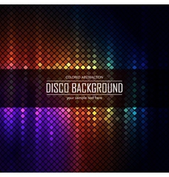 Colorful disco lighten background vector