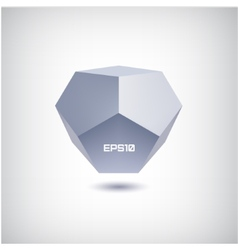 3d abstract futuristic polygon icon vector