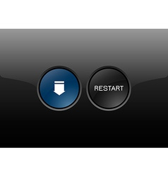 Restart button vector