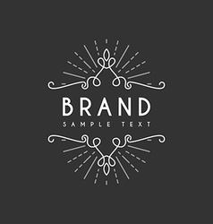 Vintage label logotype insignia badge for your vector