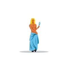 Aphrodite sign mythological greek goddess of vector