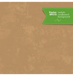 Realistic cardboard background vector