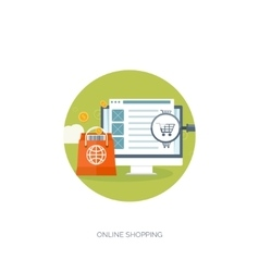 Flat header shopping web vector