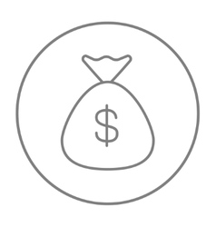 Money bag line icon vector