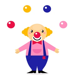 Juggling circus clowns vector