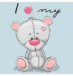 Cute cartoon teddy vector