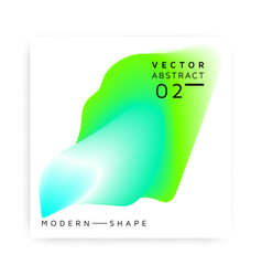 abstract modern shape colorful vector image
