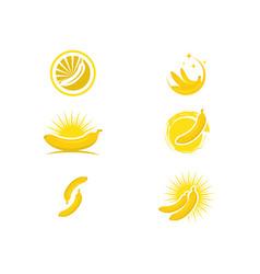 banana logo template icon design vector image vector image