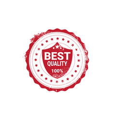 Best quality sticker red grunge stamp isolated vector