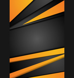 Black and orange tech corporate background vector