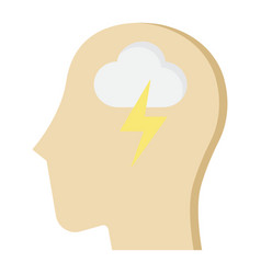 brainstorm flat icon business and idea vector image vector image