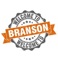 branson round ribbon seal vector image vector image