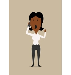 Businesswoman talking on the mobile phone vector image