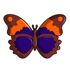 Butterfly brown icon cartoon style vector