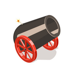 Cannon isolated on white background vector