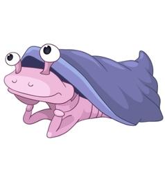 Cartoon character mollusc vector