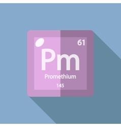 Chemical element promethium flat vector