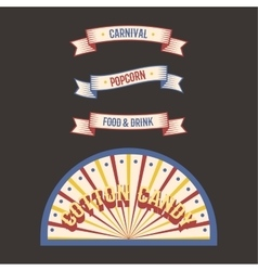 Circus vintage label banner vector image vector image