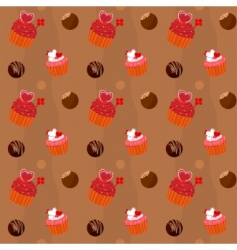 cupcakes and sweets vector image vector image