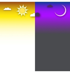 Day and night background vector image